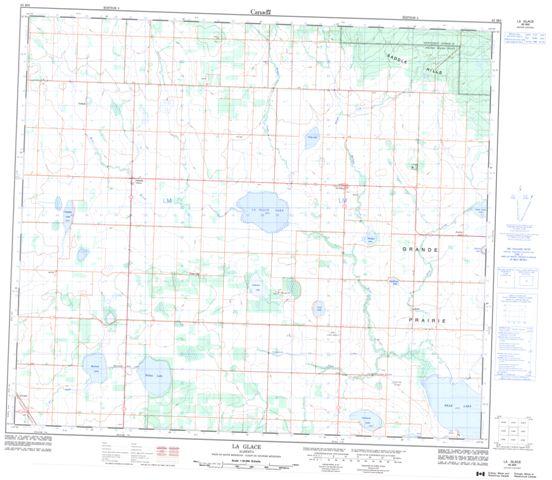 La Glace Topographic Paper Map 083M06 at 1:50,000 scale
