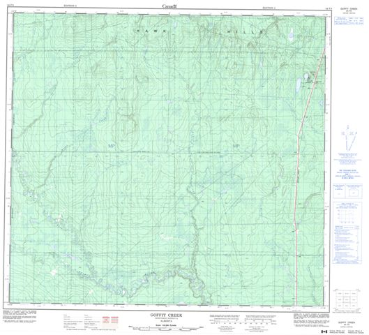 Goffit Creek Topographic Paper Map 084F05 at 1:50,000 scale