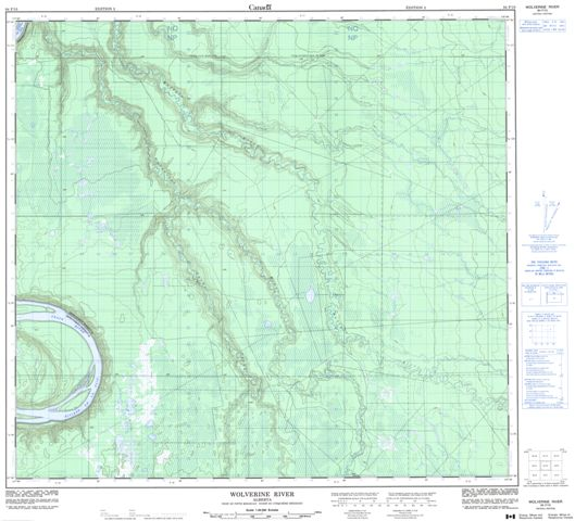 Wolverine River Topographic Paper Map 084F10 at 1:50,000 scale