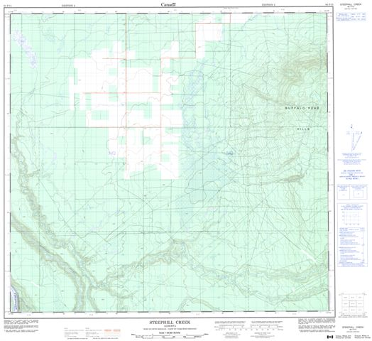 Steephill Creek Topographic Paper Map 084F15 at 1:50,000 scale
