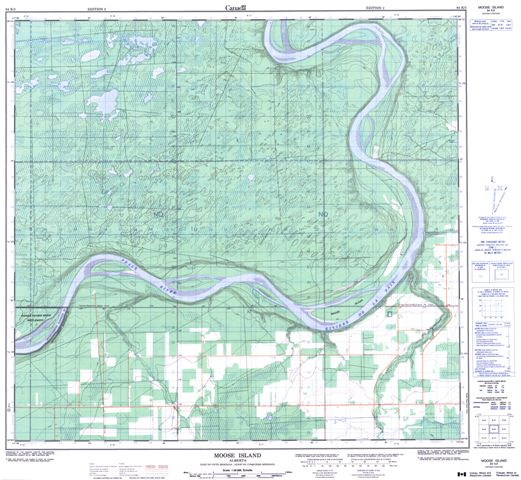 Moose Island Topographic Paper Map 084K02 at 1:50,000 scale
