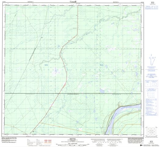 Metis Topographic Paper Map 084K03 at 1:50,000 scale