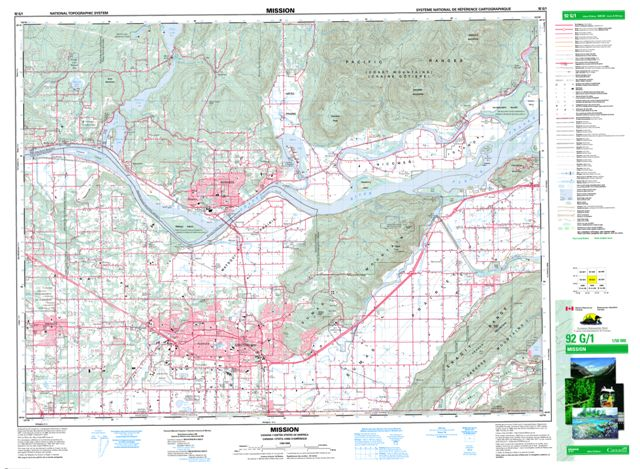 Mission Bc Map Mission BC Maps Online   Free Topographic Map Sheet 092G01 at 1:50,000