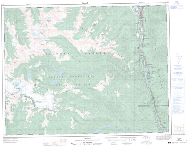 Lytton Topographic Paper Map 092I04 at 1:50,000 scale