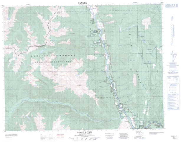 Stein River Topographic Paper Map 092I05 at 1:50,000 scale