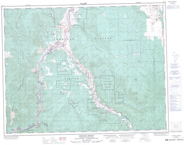 Spences Bridge Topographic Paper Map 092I06 at 1:50,000 scale