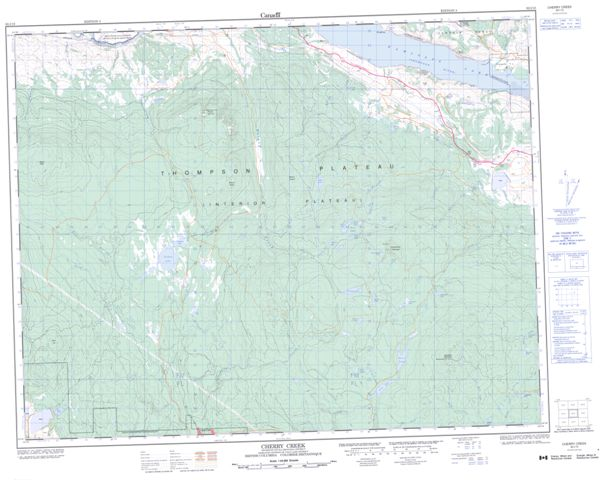 Cherry Creek Topographic Paper Map 092I10 at 1:50,000 scale
