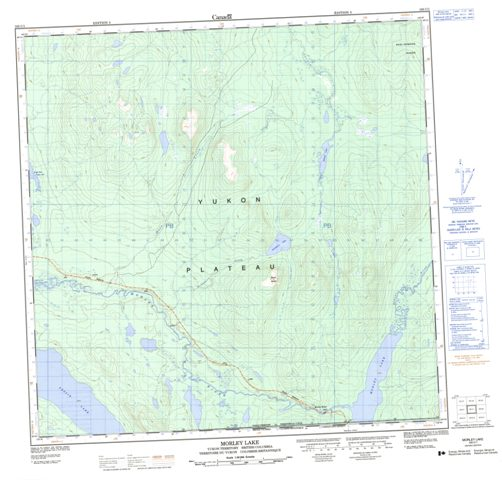 Morley Lake YK Maps Online Free Topographic Map Sheet 105C01 at 1