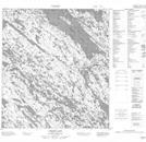 055N06 Gibson Lake Topographic Map Thumbnail