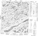 086A05 Piuze Lake Topographic Map Thumbnail