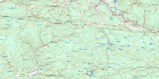 Hopewell Topo Map 011E07 at 1:50,000 scale - National Topographic System of Canada (NTS) - Toporama map