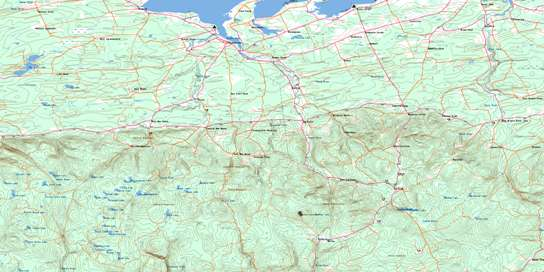 Tatamagouche Topo Map 011E11 at 1:50,000 scale - National Topographic System of Canada (NTS) - Toporama map