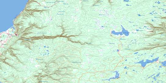 Cheticamp River Topo Map 011K10 at 1:50,000 scale - National Topographic System of Canada (NTS) - Toporama map