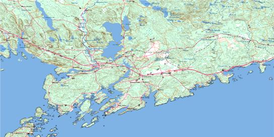 St George Topo Map 021G02 at 1:50,000 scale - National Topographic System of Canada (NTS) - Toporama map