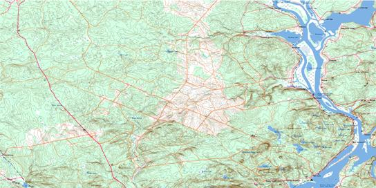 Hampstead Topo Map 021G09 at 1:50,000 scale - National Topographic System of Canada (NTS) - Toporama map