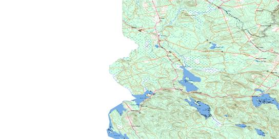 Fosterville Topo Map 021G13 at 1:50,000 scale - National Topographic System of Canada (NTS) - Toporama map