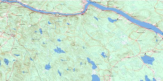 Canterbury Topo Map 021G14 at 1:50,000 scale - National Topographic System of Canada (NTS) - Toporama map