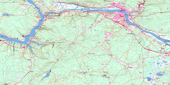 Fredericton Topo Map 021G15 at 1:50,000 scale - National Topographic System of Canada (NTS) - Toporama map