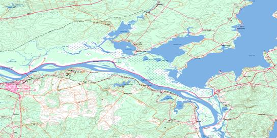 Grand Lake Topo Map 021G16 at 1:50,000 scale - National Topographic System of Canada (NTS) - Toporama map
