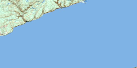 Salmon River Topo Map 021H06 at 1:50,000 scale - National Topographic System of Canada (NTS) - Toporama map
