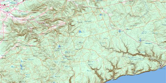 Waterford Topo Map 021H11 at 1:50,000 scale - National Topographic System of Canada (NTS) - Toporama map