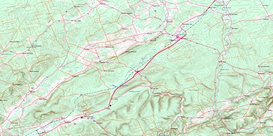 Petitcodiac Topo Map 021H14 at 1:50,000 scale - National Topographic System of Canada (NTS) - Toporama map