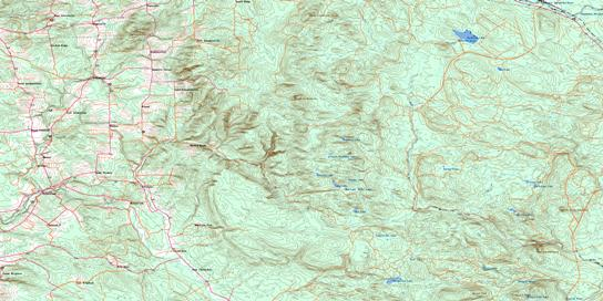 Coldstream Topo Map 021J06 at 1:50,000 scale - National Topographic System of Canada (NTS) - Toporama map
