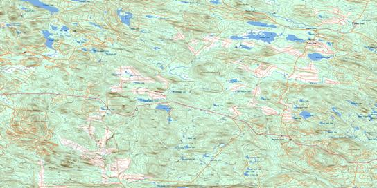 Tuadook Lake Topo Map 021J15 at 1:50,000 scale - National Topographic System of Canada (NTS) - Toporama map