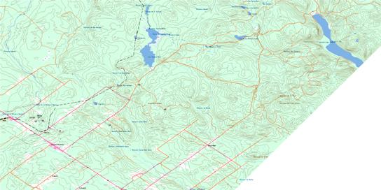 Ste-Perpetue-De-Islet Topo Map 021N04 at 1:50,000 scale - National Topographic System of Canada (NTS) - Toporama map