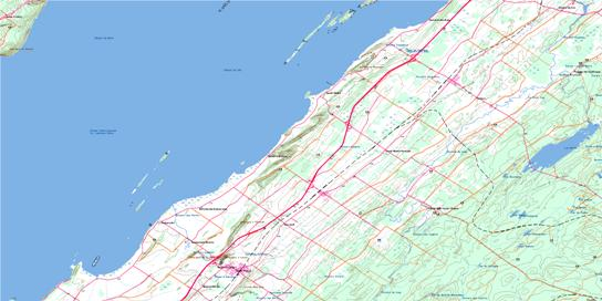 Saint-Pascal Topo Map 021N12 at 1:50,000 scale - National Topographic System of Canada (NTS) - Toporama map