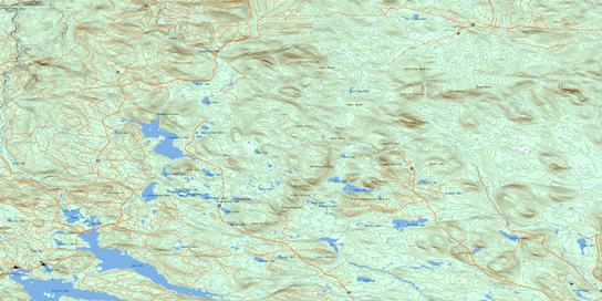 Serpentine Lake Topo Map 021O02 at 1:50,000 scale - National Topographic System of Canada (NTS) - Toporama map