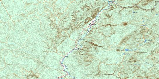 Riley Brook Topo Map 021O03 at 1:50,000 scale - National Topographic System of Canada (NTS) - Toporama map