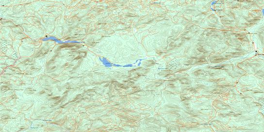 Nepisiguit Lakes Topo Map 021O07 at 1:50,000 scale - National Topographic System of Canada (NTS) - Toporama map