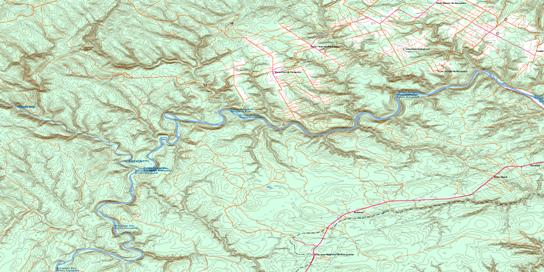 Menneval Topo Map 021O14 at 1:50,000 scale - National Topographic System of Canada (NTS) - Toporama map