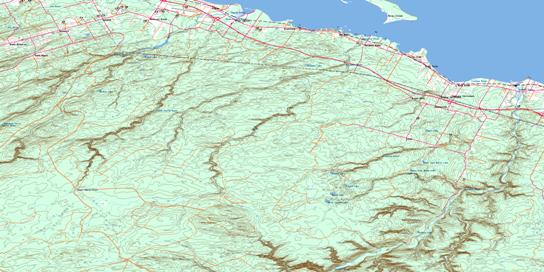 Charlo Topo Map 021O16 at 1:50,000 scale - National Topographic System of Canada (NTS) - Toporama map