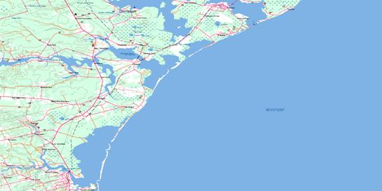 Tracadie Topo Map 021P10 at 1:50,000 scale - National Topographic System of Canada (NTS) - Toporama map