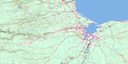 Bathurst Topo Map 021P12 at 1:50,000 scale - National Topographic System of Canada (NTS) - Toporama map