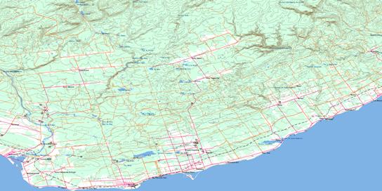 New Carlisle Topo Map 022A03 at 1:50,000 scale - National Topographic System of Canada (NTS) - Toporama map