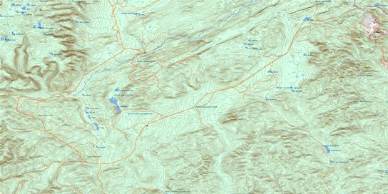 Lac Madeleine Topo Map 022A13 at 1:50,000 scale - National Topographic System of Canada (NTS) - Toporama map