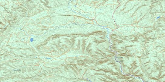 Monts Berry Topo Map 022B09 at 1:50,000 scale - National Topographic System of Canada (NTS) - Toporama map