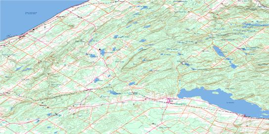 Sayabec Topo Map 022B12 at 1:50,000 scale - National Topographic System of Canada (NTS) - Toporama map