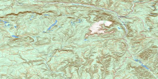 Mont Albert Topo Map 022B16 at 1:50,000 scale - National Topographic System of Canada (NTS) - Toporama map