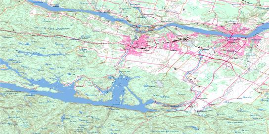 JonquiereChicoutimi QC Maps Online Free Topographic Map Sheet