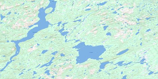 Lac Moyer Topo Map 024D02 at 1:50,000 scale - National Topographic System of Canada (NTS) - Toporama map