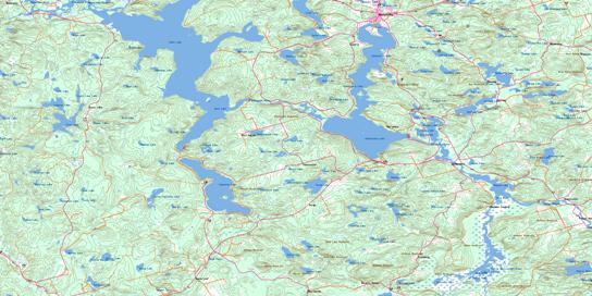 Barry's Bay Topo Map 031F05 at 1:50,000 scale - National Topographic System of Canada (NTS) - Toporama map
