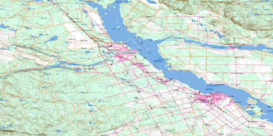 Pembroke Topo Map 031F14 at 1:50,000 scale - National Topographic System of Canada (NTS) - Toporama map