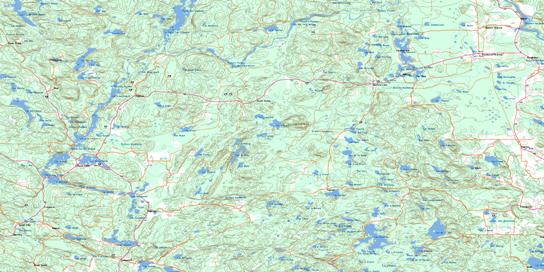 Kazabazua Topo Map 031F16 at 1:50,000 scale - National Topographic System of Canada (NTS) - Toporama map