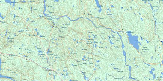 Lac D'Anville Topo Map 032H03 at 1:50,000 scale - National Topographic System of Canada (NTS) - Toporama map