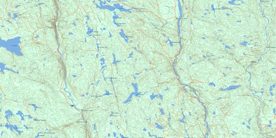 Lac Blondelas Topo Map 032H07 at 1:50,000 scale - National Topographic System of Canada (NTS) - Toporama map