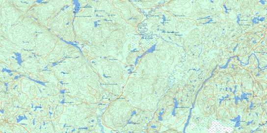 Lac Bellemare Topo Map 032H08 at 1:50,000 scale - National Topographic System of Canada (NTS) - Toporama map